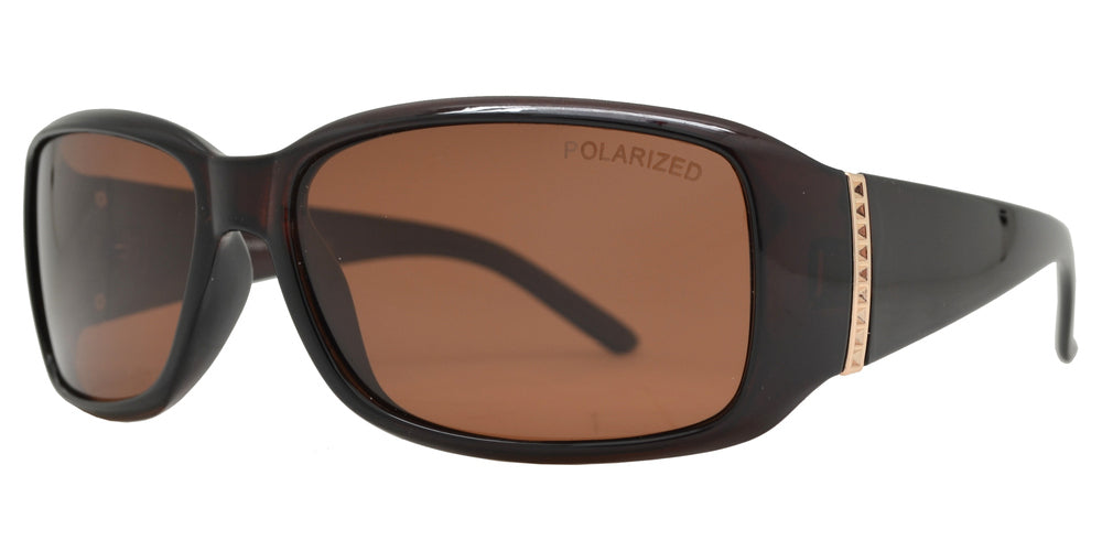 Dynasol Eyewear - Wholesale Sunglasses - PL 7572 - Women's Plastic Small Rectangular Polarized Sunglasses - sunglasses