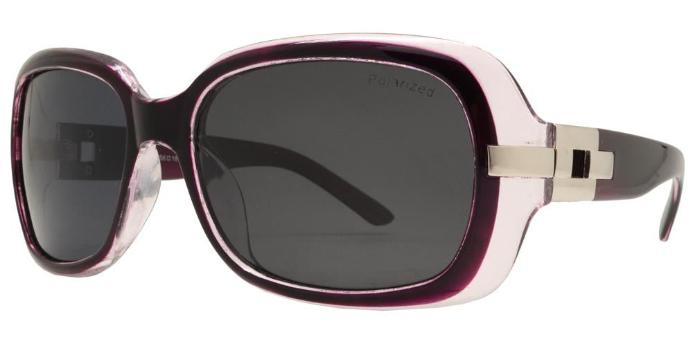 Dynasol Eyewear - Wholesale Sunglasses - PL 7585 - Women's Square Fashion Plastic Polarized Sunglasses - sunglasses