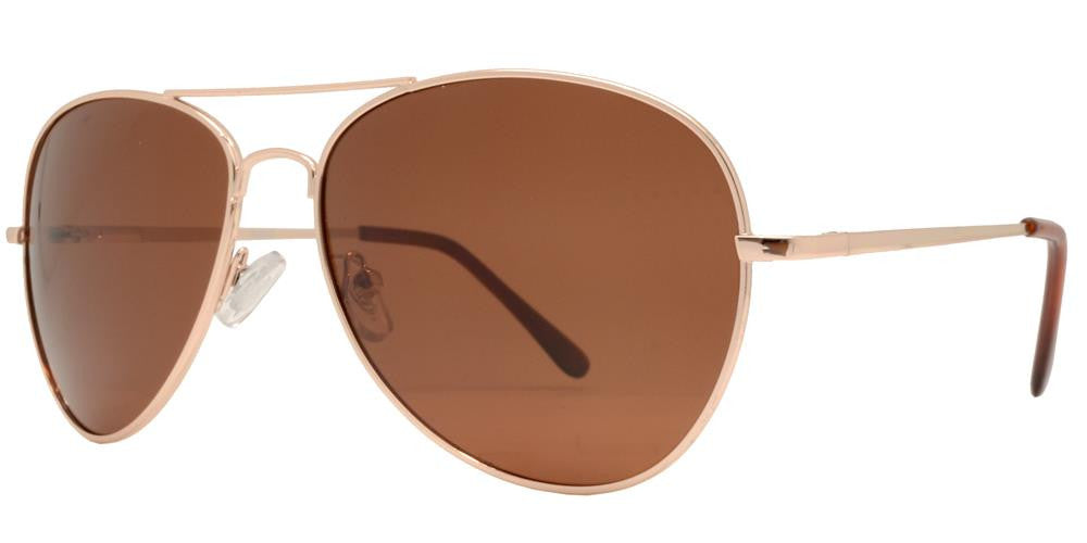 Wholesale - PL 9090 - Classic Metal Aviator Polarized Sunglasses - Dynasol Eyewear