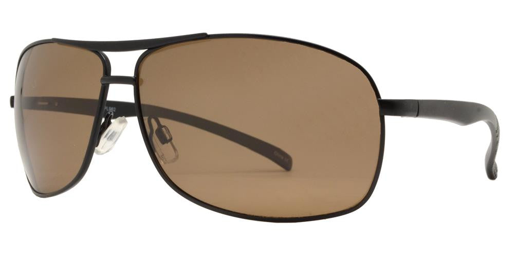 Wholesale - PL 962 - Aluminum Rectangular Aviator Polarized Sunglasses - Dynasol Eyewear