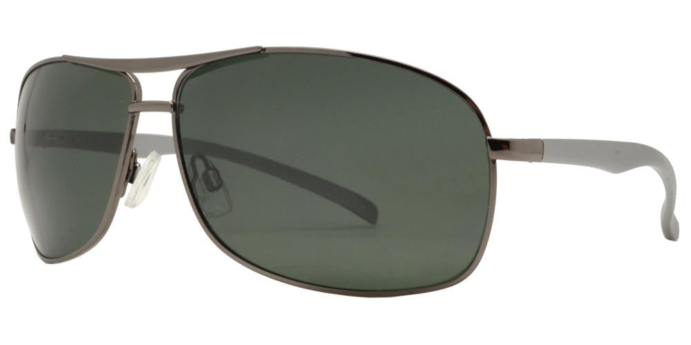 Dynasol Eyewear - Wholesale Sunglasses - PL 962 - Aluminum Rectangular Aviator Polarized Sunglasses - sunglasses