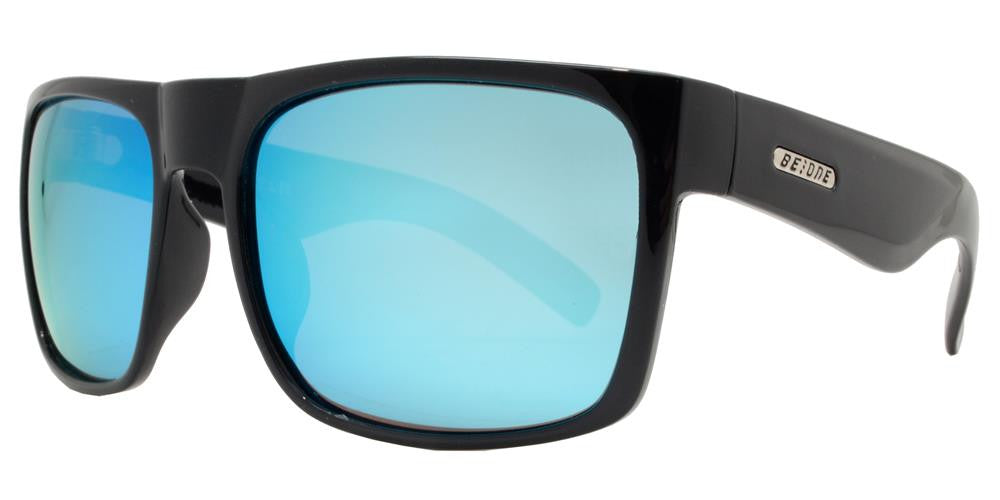 Dynasol Eyewear - Wholesale Sunglasses - PL Helm - Polarized Flat Top Large Square Plastic Polarized Sunglasses - sunglasses