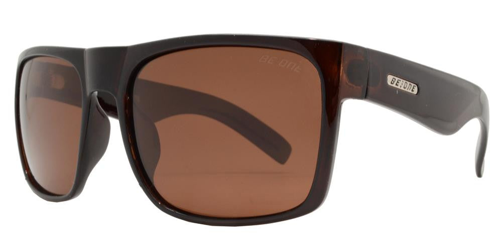 Wholesale - PL Helm - Polarized Flat Top Large Square Plastic Polarized Sunglasses - Dynasol Eyewear