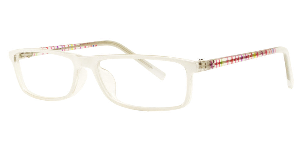 PZ 1303 - Rectangular Plastic Sunglasses with Clear Lens