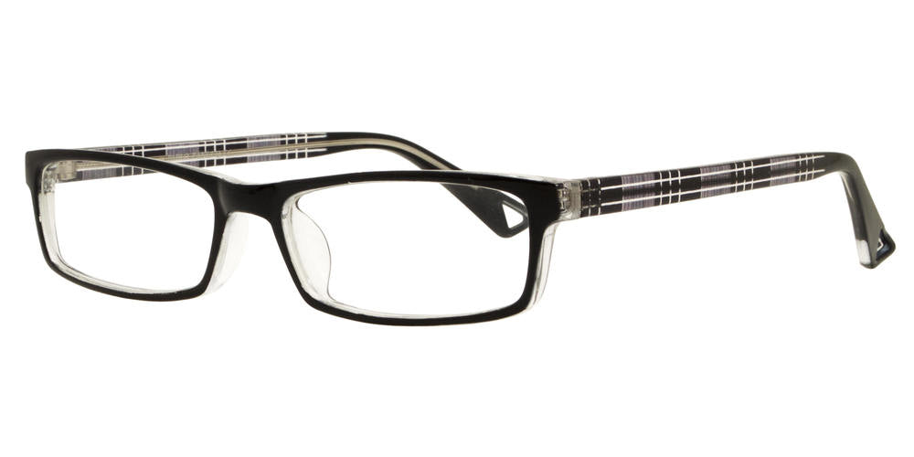 PZ 1306 - Rectangular Clear Lens Plastic Sunglasses