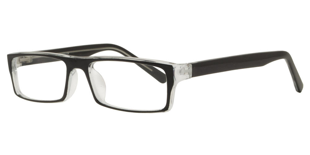 PZ 1310 - Rectangular Plastic Sunglasses with Clear Lens