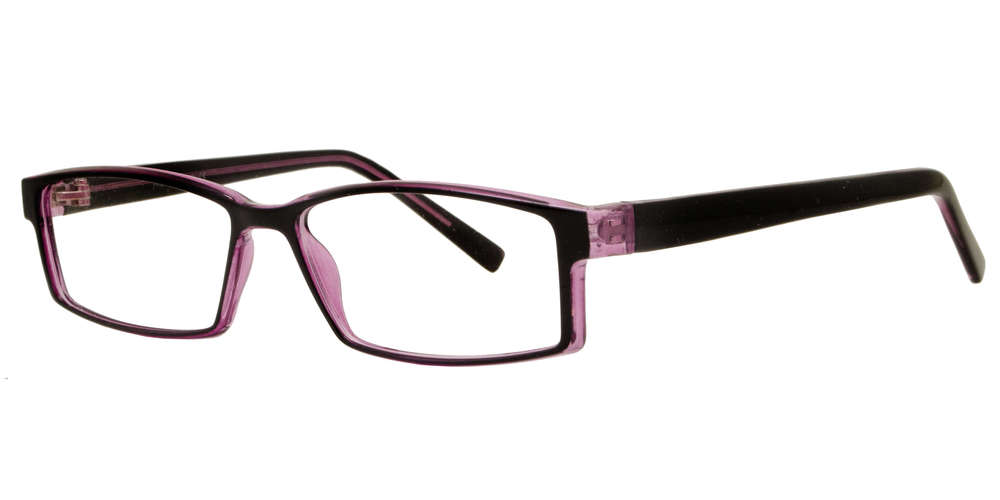 PZ 1315 - Rectangular Sunglasses with Clear Lens
