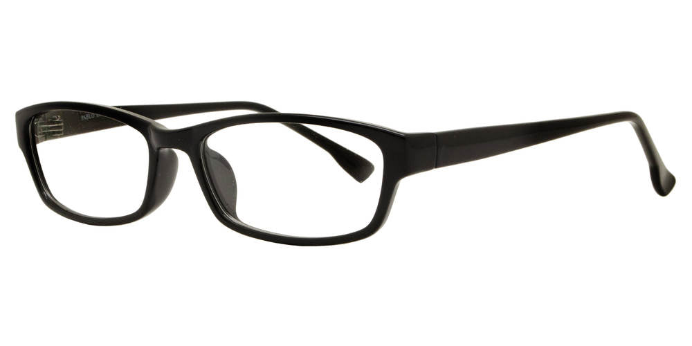PZ 1317 - Rectangular Plastic Clear Lens Sunglasses