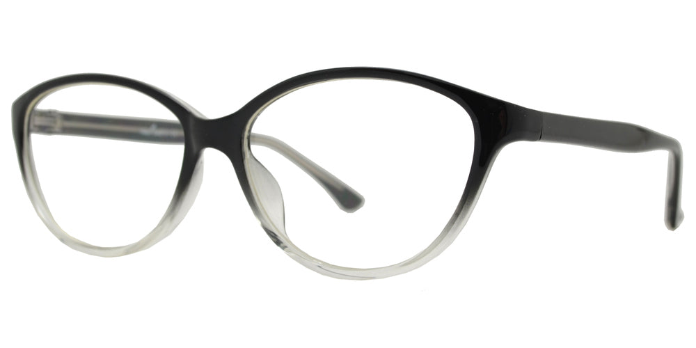 PZ 1340 - Plastic Round Cat Eye Sunglasses with Clear Lens