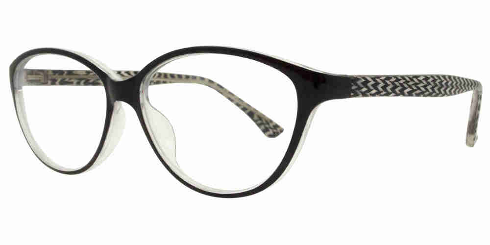 PZ 1357 - Plastic Cat Eye Sunglasses with Clear Lens