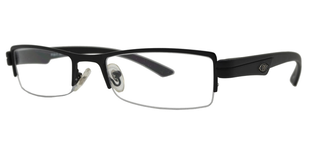 PZ 1470 - Semi Rimless Clear Lens Sunglasses