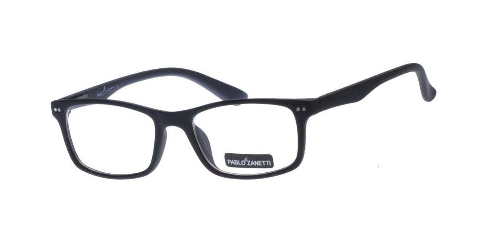 Wholesale - PZ 1489 - Rectangular Horn Rimmed Metal Accents Clear Lens Plastic Sunglasses - Dynasol Eyewear