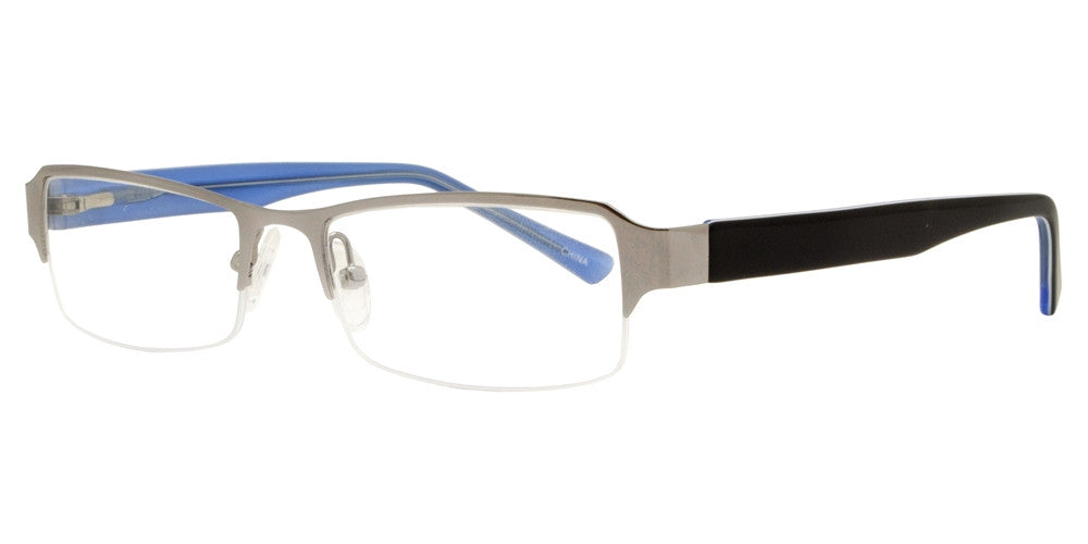 Wholesale - PZ 8736 ST - Half Rimmed Clear Lens Stainless Steel Sunglasses - Dynasol Eyewear