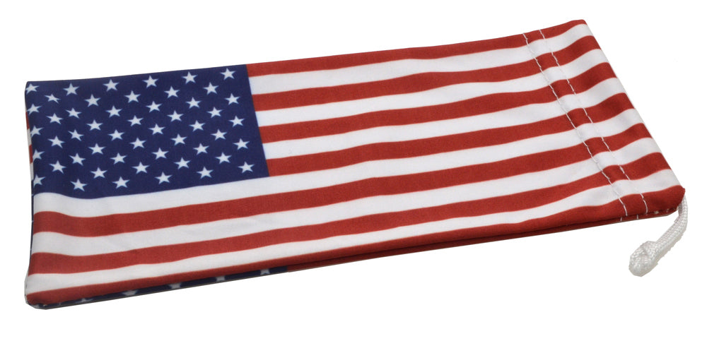 Wholesale - USA FLAG Microfiber Pouch - Dynasol Eyewear