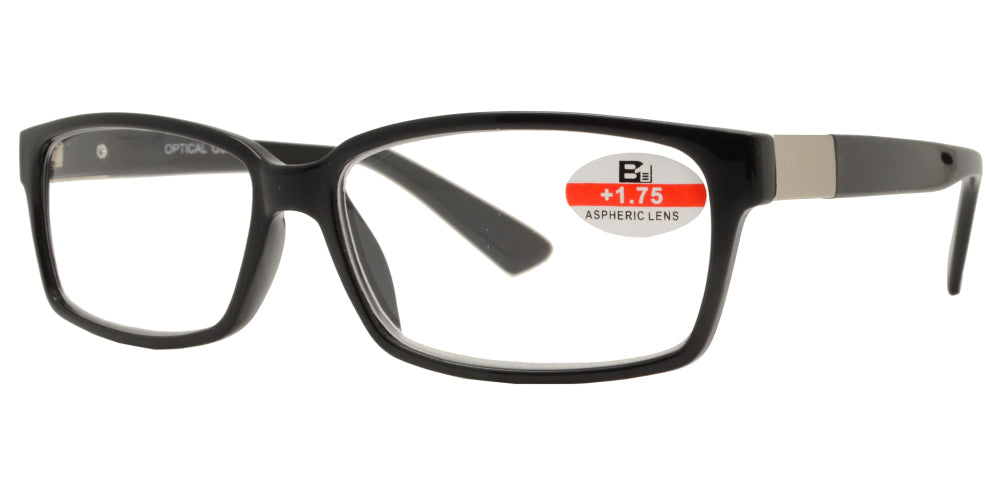 RS 1142 - Plastic Rectangle Reading Glasses