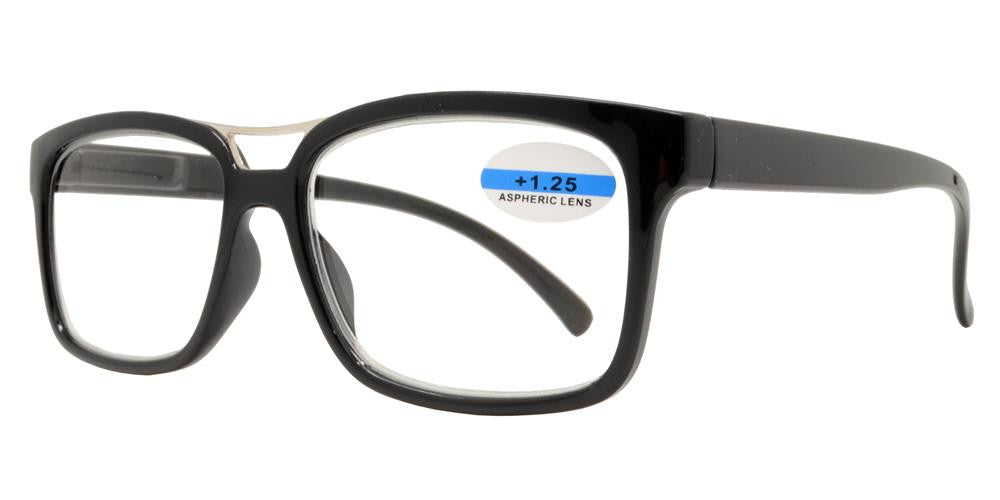 Wholesale - RS 1145 - Modern Horn Rimmed with Brow Bar Plastic Reading Glasses - Dynasol Eyewear