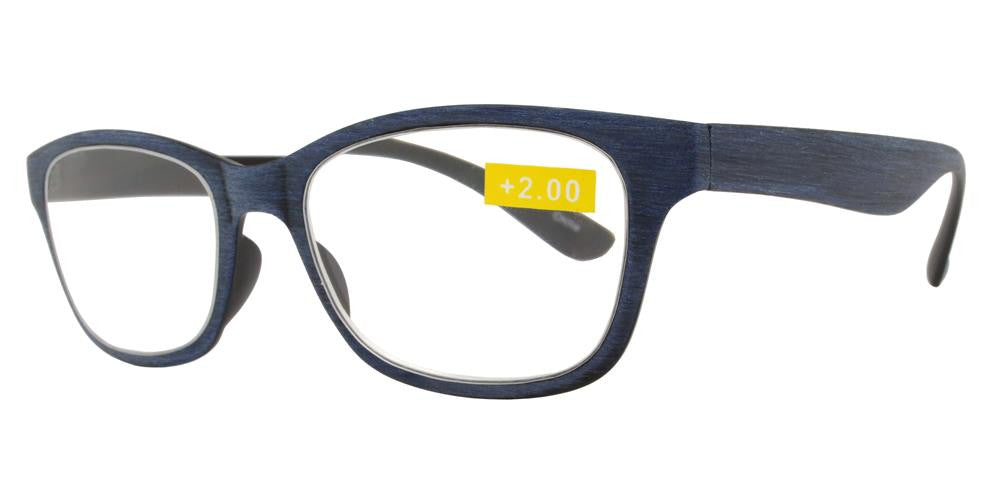 Wholesale - RS 1191 - Classic Horn Rimmed Faux Wood Finish Plastic Reading Glasses - Dynasol Eyewear