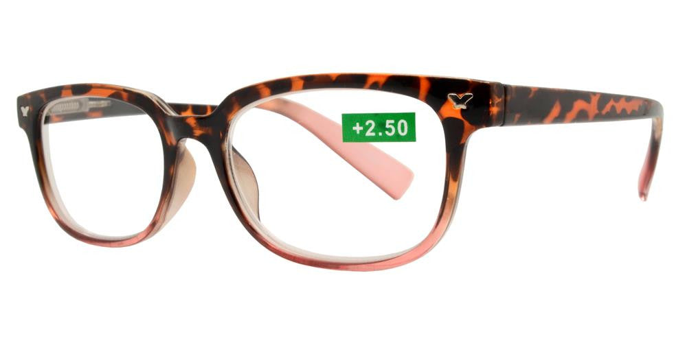 Wholesale - RS 1194 - Classic Horn Rimmed Butterfly Accent Plastic Reading Glasses - Dynasol Eyewear