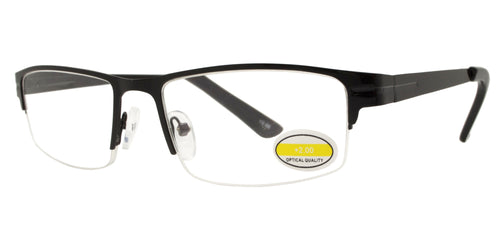 RS 1205 - Rectangular Metal Reading Glasses