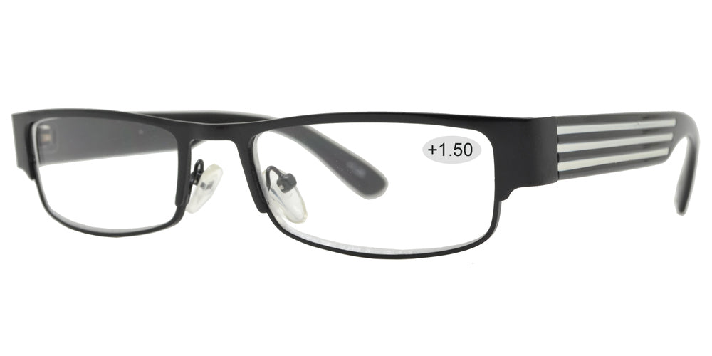 Wholesale - RS 1003 +1.50 - Metal Rectangular Reading Glasses - Dynasol Eyewear
