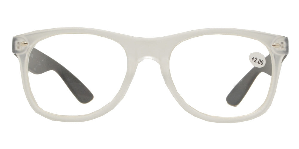 Wholesale - RS 1006 - Classic Horn Rimmed Two Tone Plastic Reading Glasses - Dynasol Eyewear