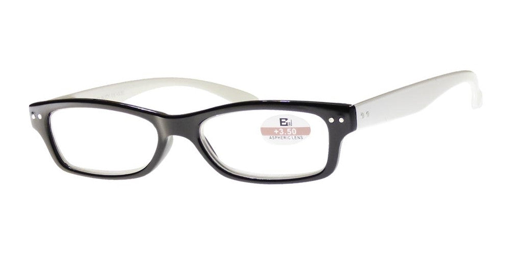 Wholesale - RS 1117 - Small Classic Horn Rimmed Two Toned Plastic Reading Glasses - Dynasol Eyewear