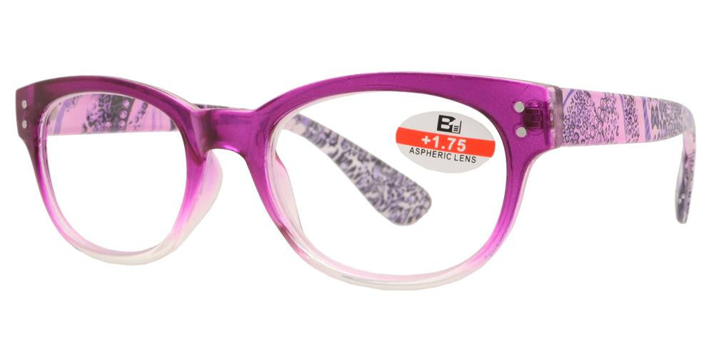 Wholesale - RS 1140 - Round Plastic Reading Glasses - Dynasol Eyewear