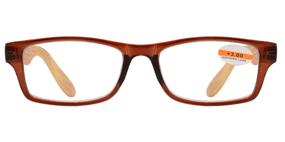 Wholesale - RS 1149 - Wood Printed Plastic Reading Glasses - Dynasol Eyewear