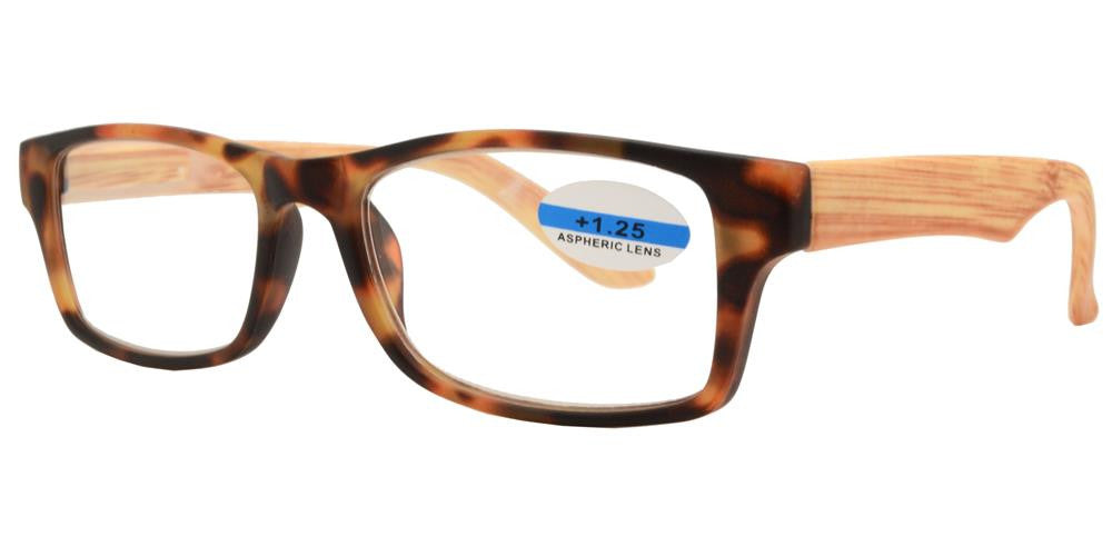 Dynasol Eyewear - Wholesale Sunglasses - RS 1149 - Wood Printed Plastic Reading Glasses - reader