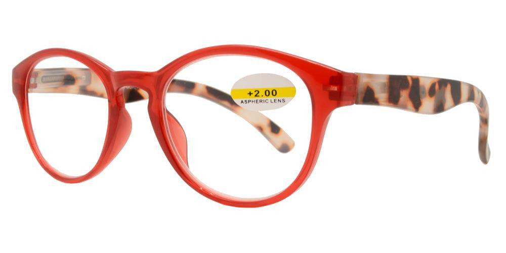 Wholesale - RS 1151 - Round Horn Rimmed with Key Hole Plastic Reading Glasses - Dynasol Eyewear