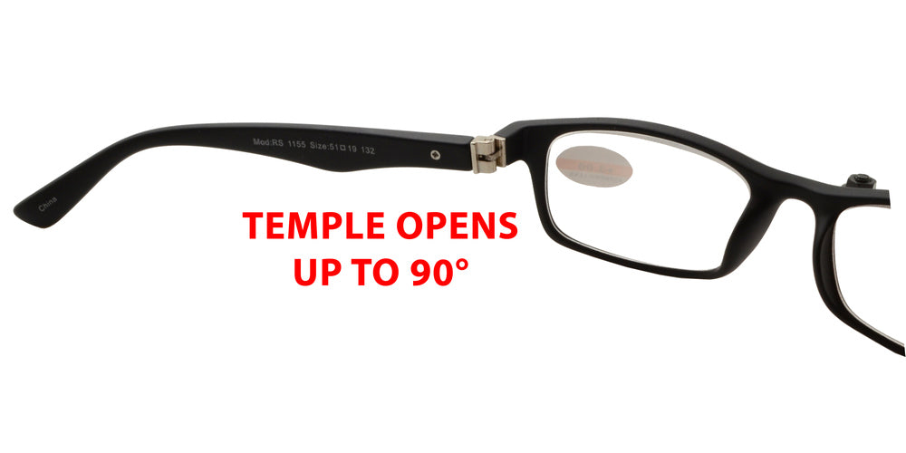 Dynasol Eyewear - Wholesale Sunglasses - RS 1155 - Plastic Rectangle Reading Glasses - reader