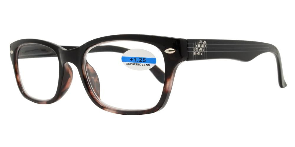 Dynasol Eyewear - Wholesale Sunglasses - RS 1158 - Plastic Reading Glasses with Rhinestones - reader