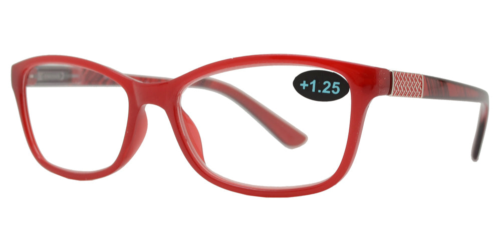Wholesale - RS 1197 - Rectangular Plastic Reading Glasses - Dynasol Eyewear