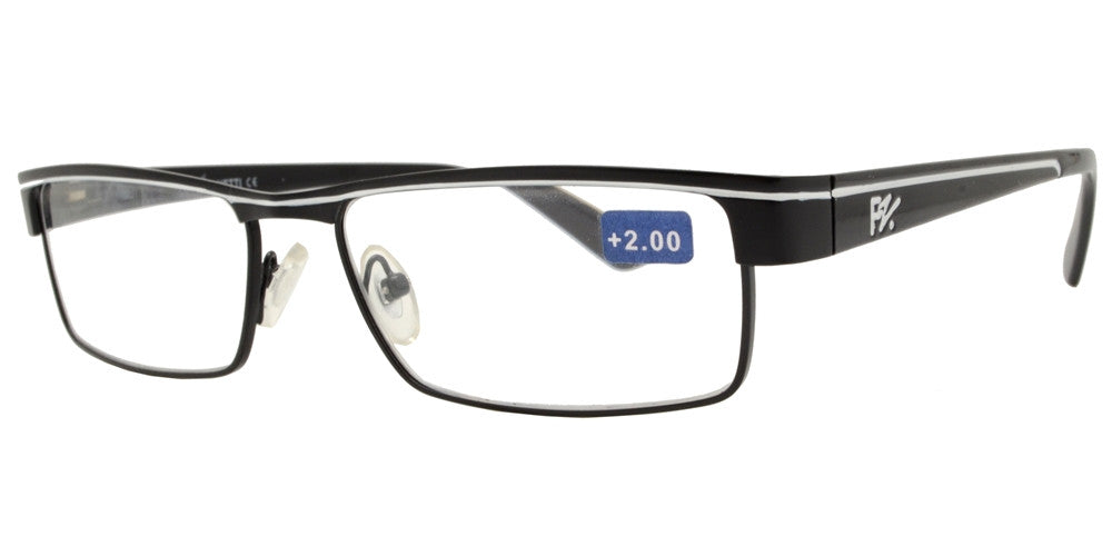 Wholesale - RS 1264 - Rectangular Half Frame Metal Reading Glasses - Dynasol Eyewear