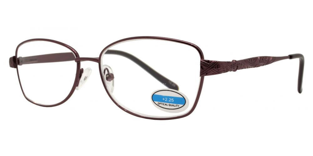 Wholesale - RS 1295 - Butterfly Decorative Temple Metal Reading Glasses - Dynasol Eyewear