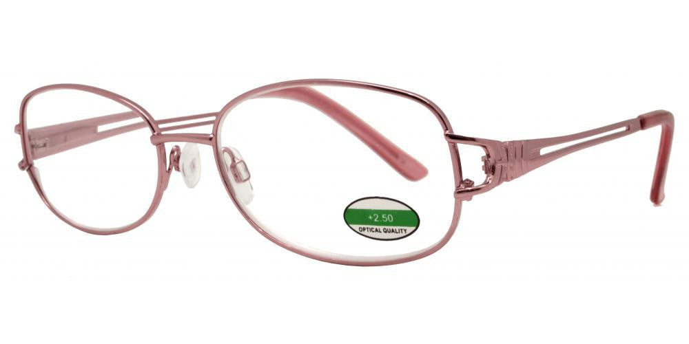 Wholesale - RS 1296 - Butterfly Temple Cut Out Metal Reading Glasses - Dynasol Eyewear