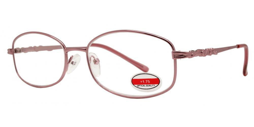 Dynasol Eyewear - Wholesale Sunglasses - RS 1297 - Butterfly Decorative Temple Metal Reading Glasses - reader