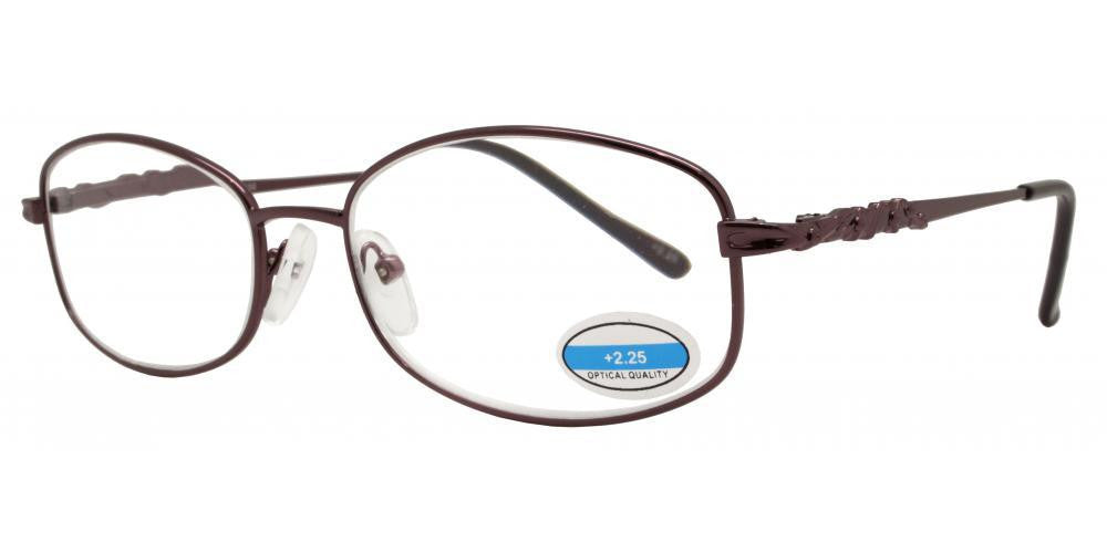 Wholesale - RS 1297 - Butterfly Decorative Temple Metal Reading Glasses - Dynasol Eyewear