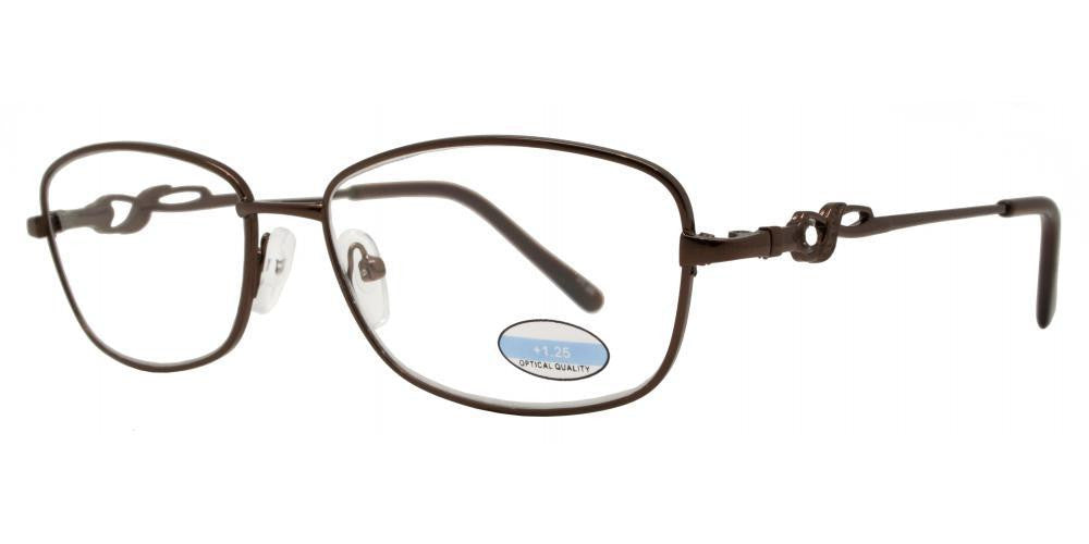 Wholesale - RS 1299 - Butterfly Decorative Temple Metal Reading Glasses - Dynasol Eyewear