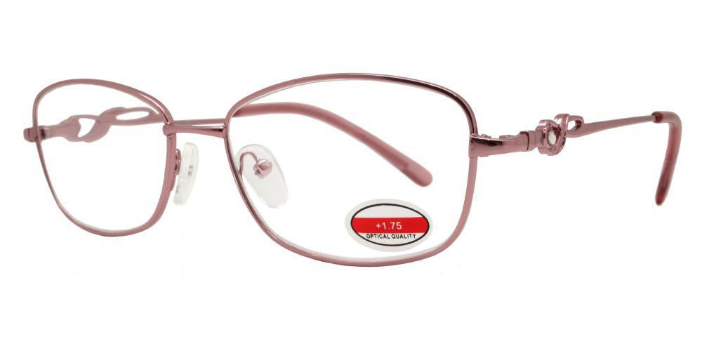 Dynasol Eyewear - Wholesale Sunglasses - RS 1299 - Butterfly Decorative Temple Metal Reading Glasses - reader