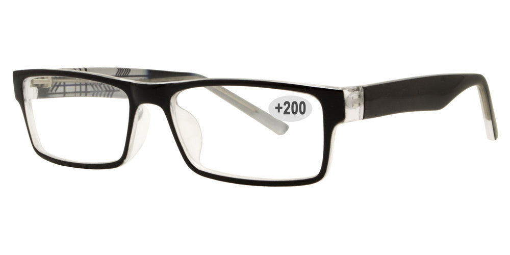 Wholesale - RS 1305 +2.00 - Plastic Rectangular Reading Glasses - Dynasol Eyewear
