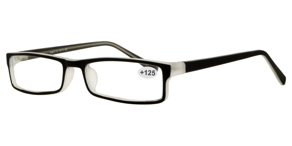 Wholesale - RS 1309 +1.25 - Plastic Rectangular Reading Glasses - Dynasol Eyewear