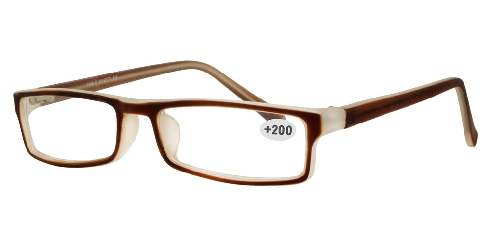 RS 1309 +2.00 - Plastic Rectangular Reading Glasses