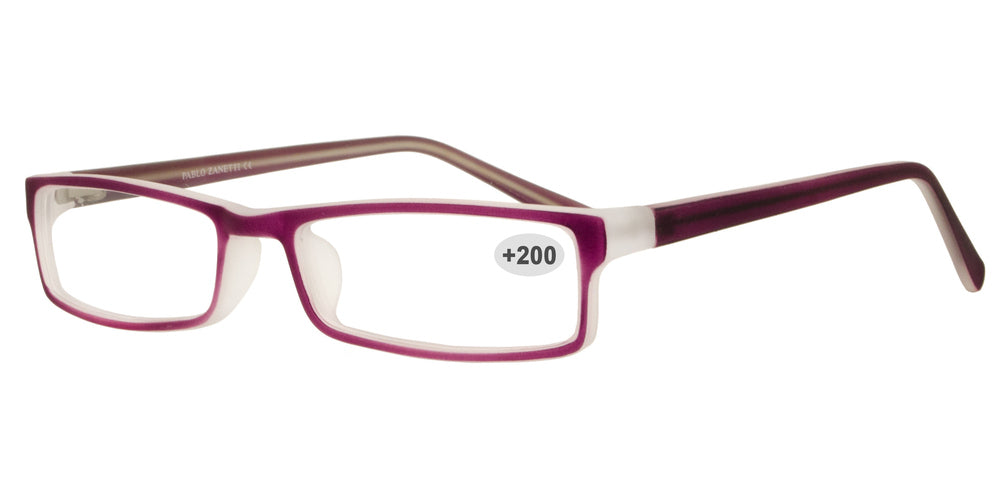 Wholesale - RS 1309 +2.00 - Plastic Rectangular Reading Glasses - Dynasol Eyewear