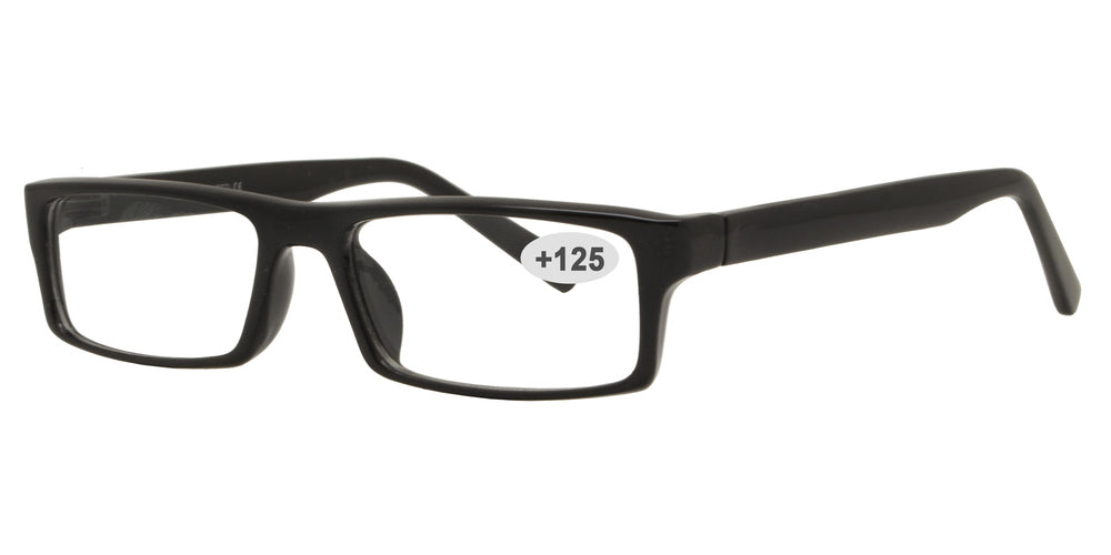 Wholesale - RS 1310 +1.25 - Rectangular Plastic Reading Glasses - Dynasol Eyewear