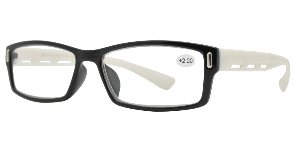 Wholesale - RS 1311 +2.00 - Plastic Rectangular Reading Glasses - Dynasol Eyewear