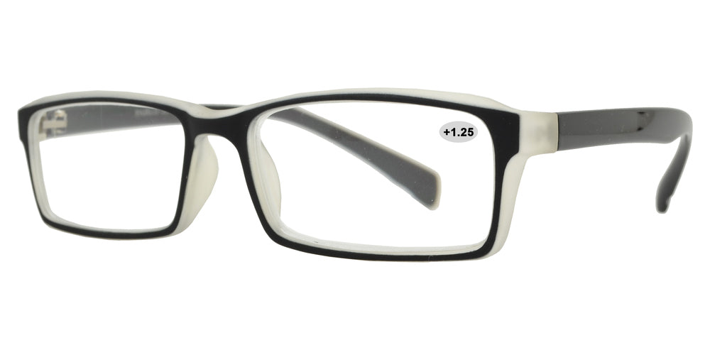 Wholesale - RS 1313 +1.25 - Plastic Rectangular Reading Glasses - Dynasol Eyewear