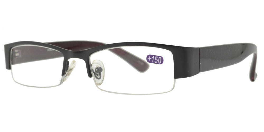 RS 1355 +1.50 - Metal Semi Rimless Reading Glasses
