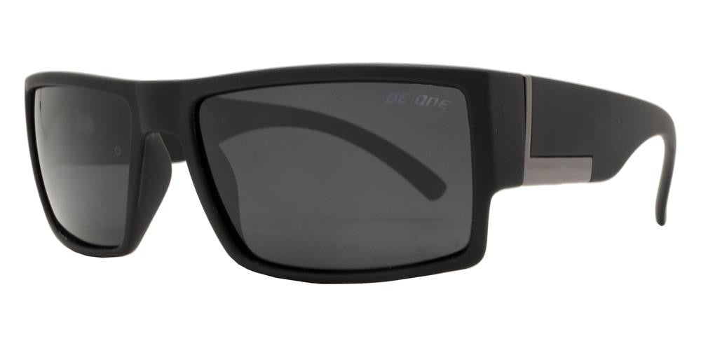 Dynasol Eyewear - Wholesale Sunglasses - PL River - Polarized Men Flat Top Rectangular Sport Plastic Sunglasses - sunglasses