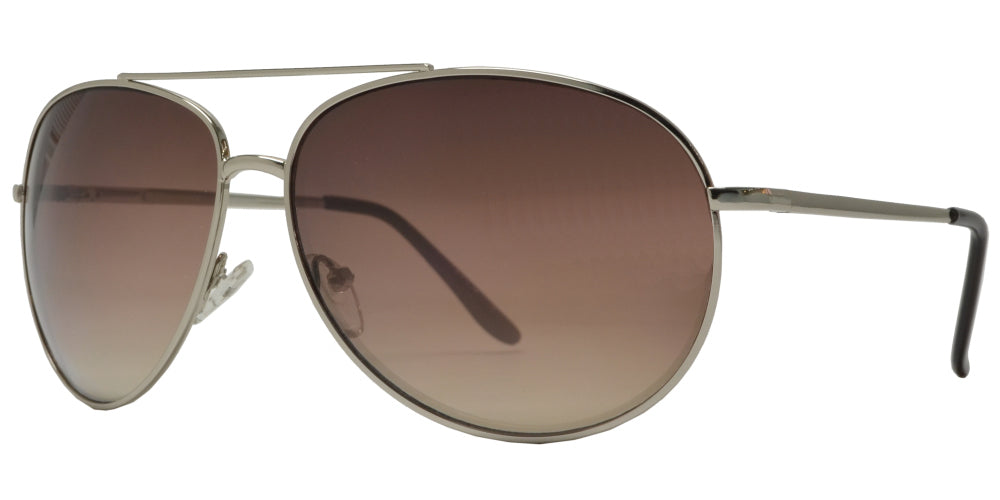 X 11083 - Metal Oval Shaped Sunglasses